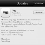Digg Reader App at App Store