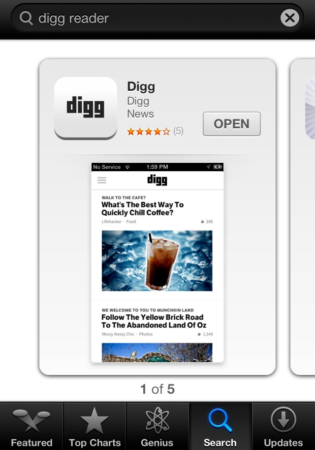 Digg Rea­der – Digg Rea­der Now Avail­able On Digg's iOS App